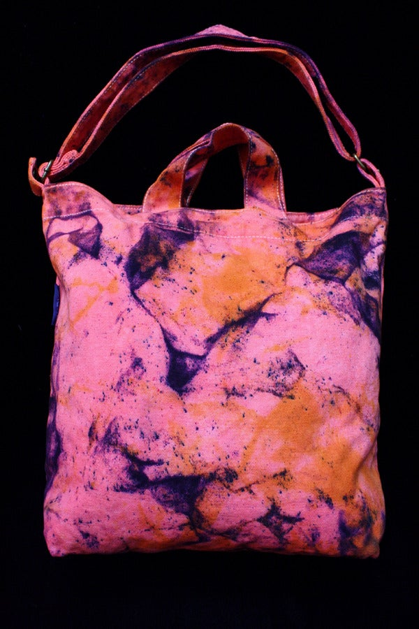 """Image of Tote Bag, Coral """"Magmatic Earthquake"""" Pattern"""