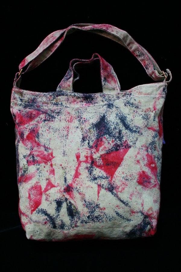 "Image of Tote Bag, Sage ""Magmatic Earthquake"" Pattern"