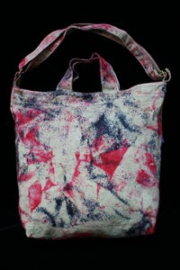 "Image of Tote Bag, Sage ""Magmatic Earthquake"" Pattern"