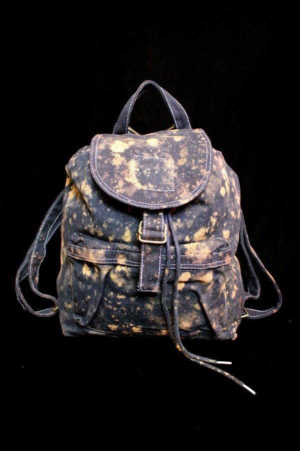 "Image of Backpack, Black ""The Universe is Expanding"" Pattern"