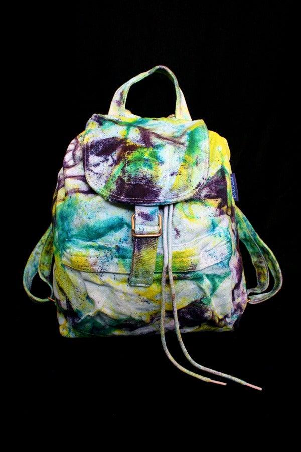 "Image of Backpack, Seafoam ""Magmatic Earthquake"" Pattern"