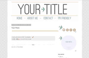 Image of Birdy Pre Made Blogger