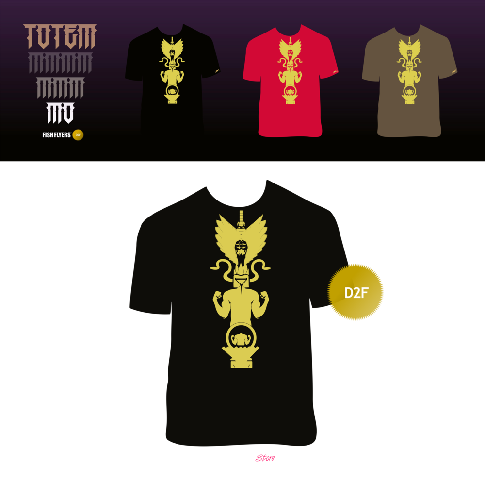 Image of #3 | The totem D2F T-Shirts