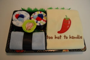 Image of Sushi, Baby! Boy Gift Set - Too Hot to Handle Onesie