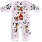Image of Six Bunnies Playsuit - Old School - Pink