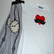 Image of Mustache Love with Key to Time Leg Warmers