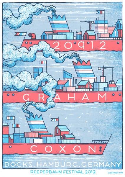 Image of Graham Coxon Poster - Reeperbahn Festival, Hamburg
