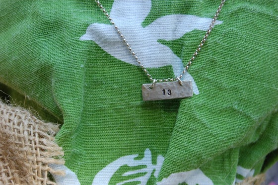 Image of Horizontal Rectangle Necklace