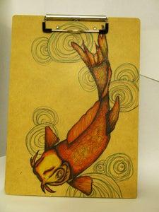 Image of Koi Fish Clipboard