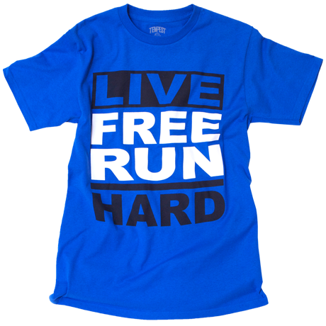 Image of Live Free Run Hard (Royal Blue)