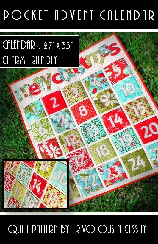 frivolous necessity  u2014 pocket advent calendar quilt pattern pdf