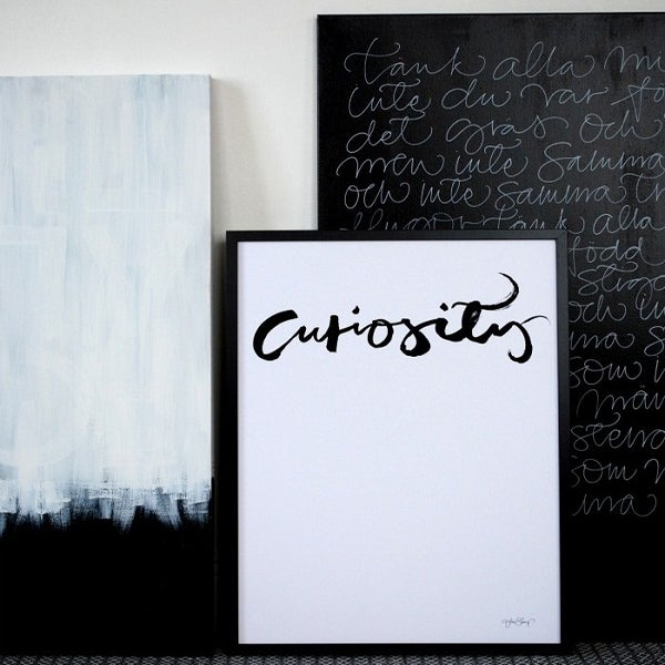 "Image of Swedish Calligraphy Print -""Curiosity"""