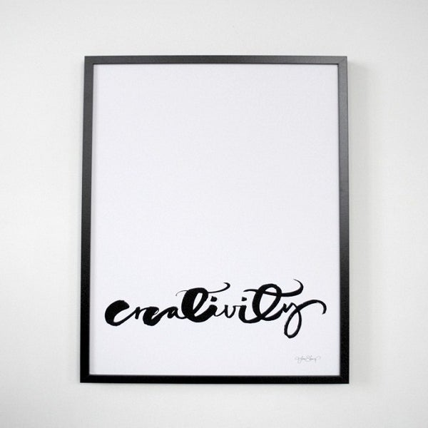 "Image of Swedish Calligraphy Print - ""Creativity"""
