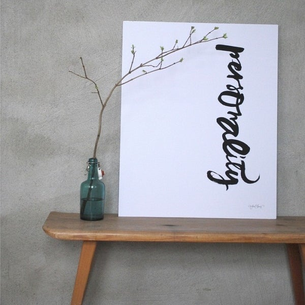 "Image of Swedish Calligraphy Print -""Personality"""
