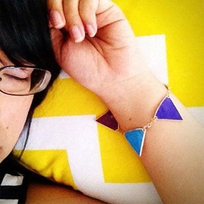 Image of Rainbow Bunting Bracelet