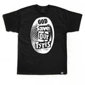 "Image of ""God Save Our Tyres"" Tee (P1B-T0123)"