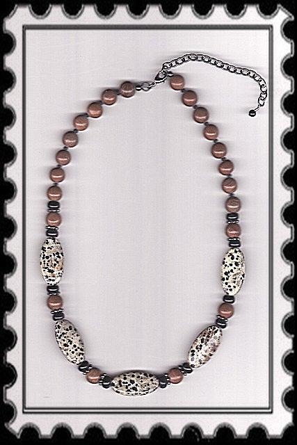 Image of N1178  Dalmatian Jasper Necklace & (Optional) Bracelet & Earrings