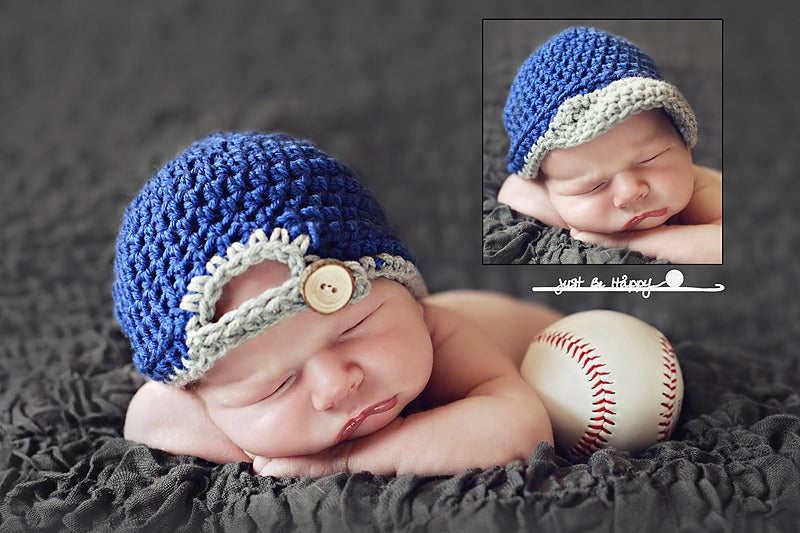 Baseball Cap PDF Pattern   Just Be Happy