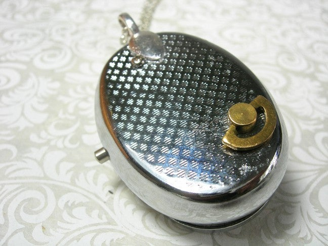 Image of Mr. Buttons miniature Musical Cameo Locket