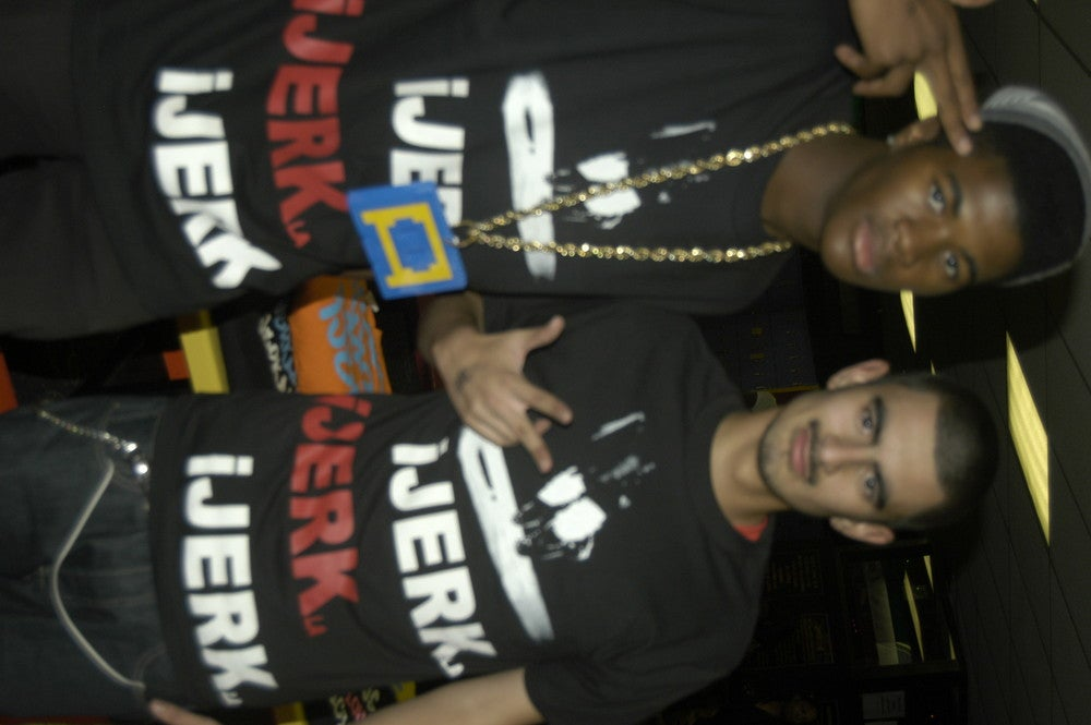 Image of ijerk la in RED  with shoes  LONG LIVE THE KING