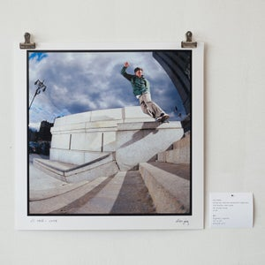 "Image of eli reed - ollie up, wallie backside lipslide - 12""x 12"" print"