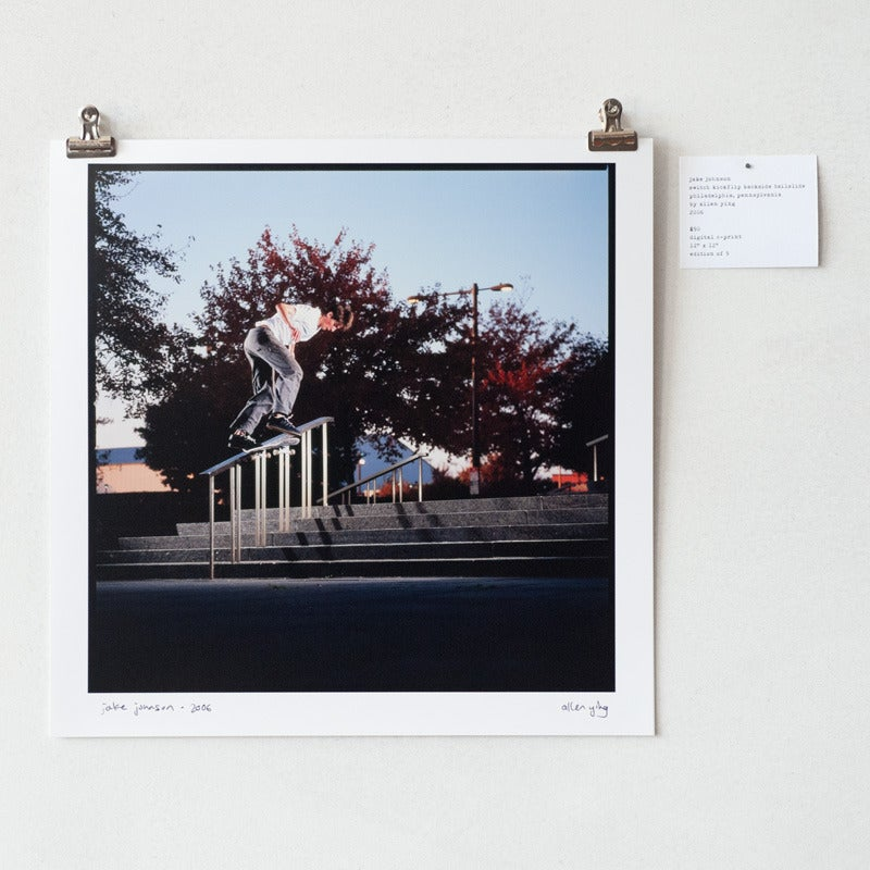 "Image of jake johnson - switch kickflip backside tailslide - 12"" x 12"" print"