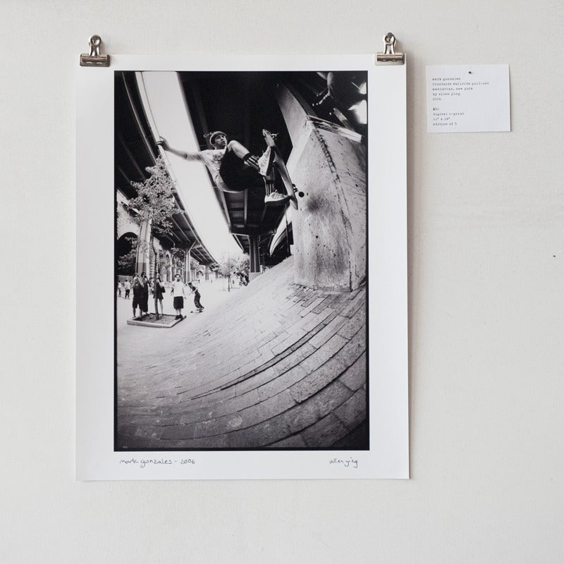 "Image of mark gonzales - frontside wallride pull out - 11"" x 14"" print"