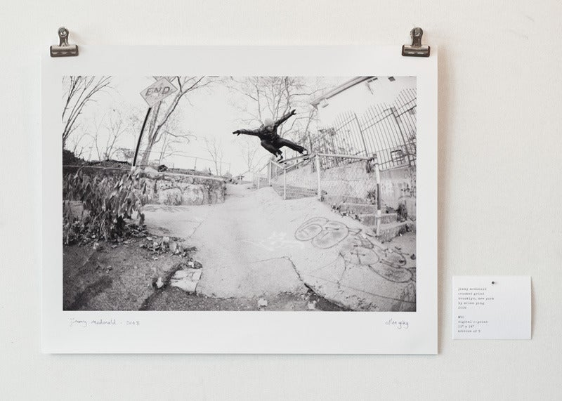 "Image of jimmy mcdonald - crooked grind - 11 x 14"" print"