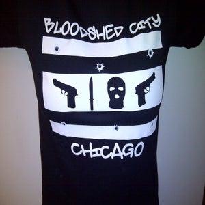 Image of BLOODSHED CITY T-SHIRT (BLACK & WHITE)
