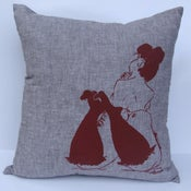 Image of Annie in Stockings Cushion (medium)