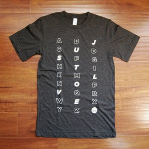 Image of The Just Love Project - Zig Zag Alphabet Shirt
