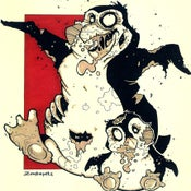Image of Zombie Penguin Print