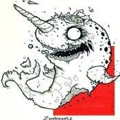 Image of Zombie Narwal Print