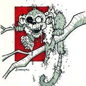 Image of Zombie Monkey Print