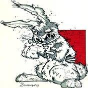 Image of Zombie Bunny Print