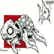 Image of Zombie Sea Turtle Print