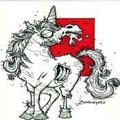 Image of Zombie Unicorn Print