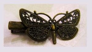 Image of Barrette pince ... Papillon & rosace