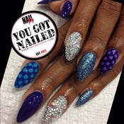Image of Create your Own Custom Press Ons w/ 2 designs & 2 swarovski nails