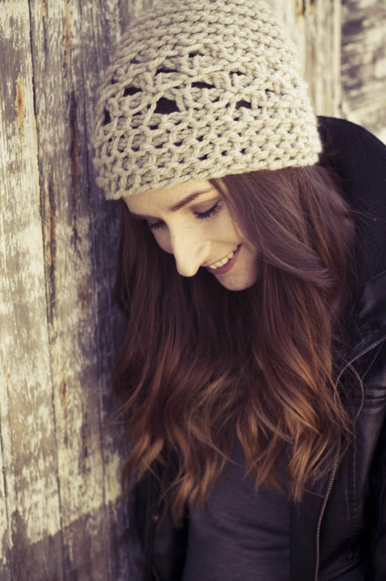 Image of Northlace Slouch Hat - natural oatmeal