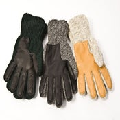 Image of Polyester-lined Ragg Wool Glove with a Deerskin Palm