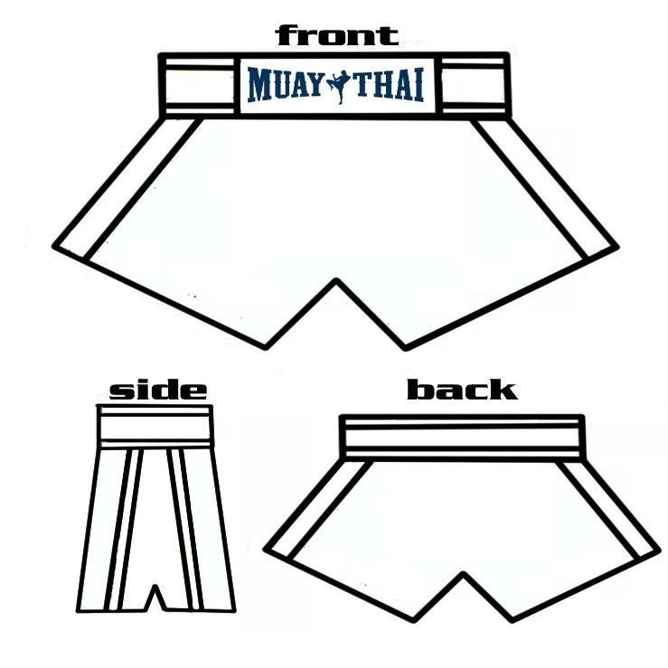 Custom muaythai custom designed muaythai shorts for Big cartel store templates