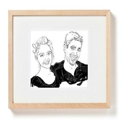 Image of Custom Portrait of Two