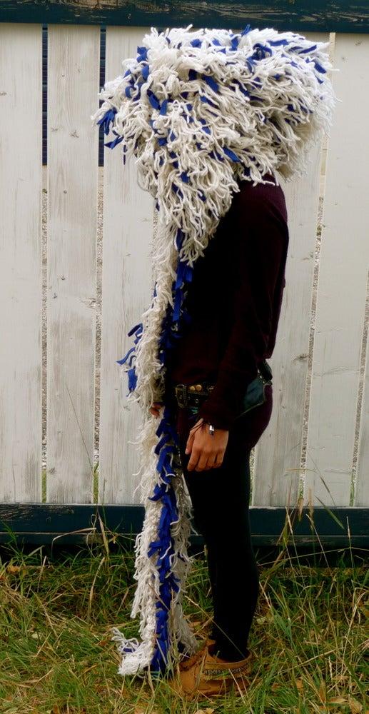 Image of Shamb Hood White with Blue