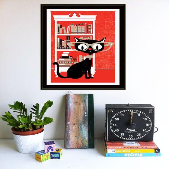 Lucky 13 Black Cat Black Cat Lucky 13 Art Print