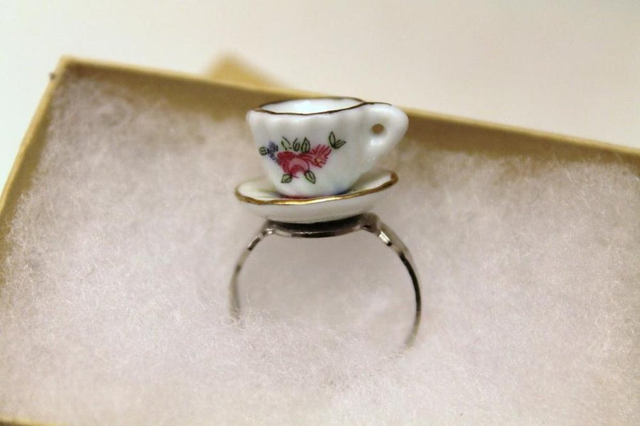 Image of Floral Tea Cup Ring (Originally $24)