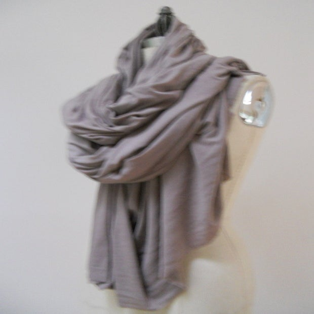 Image of MARIA SEVERYNA Oversized Blanket Wrap Scarf in Wool Jersey