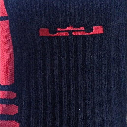 Image of Nike Lebron Elite Basketball Crew (Black/Sport Red)
