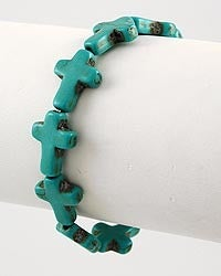 Image of Turquoise Cross Bracelet
