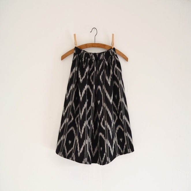 Image of black ikat skirt